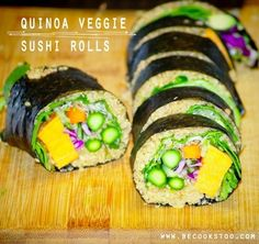 Ever tried quinoa sushi veggie rolls? Check out this superfood recipe & more!