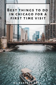 Best things to do in Chicago for 1 perfect day of exploring Chicago Vacation, Chicago Travel, Travel Usa, Chicago Trip, Chicago Lake, Chicago City, Japan Travel, Kansas City, Places To Travel