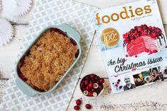 Appel-cranberrycrumble uit foodies + WIN een jaarbonnement! via http://dezusvanpauline.jimdo.com/2015/11/29/appel-cranberrycrumble-winactie/