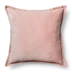 """For Sarah: Velvet Throw Pillow Cover (18""""x18"""") by Threshold™ for Target in """"Blush Pink"""" (Sale: $8.99)"""