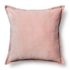 "Velvet Decorative Pillow Cover Blush Pink (18""x18"") - Threshold™ : Target"