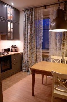 """Уютная кухня 10 кв.м. серого цвета из Икеа за $3000 в """"сталинке"""""""