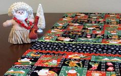 Retro Mid Century Tiki Style Christmas Holiday Table Runner, Hand Made by Tiki Queen Atomic Table, Christmas Holidays, Merry Christmas, Tiki Hut, Holiday Tables, Table Runners, Reindeer, Mid Century, Tropical