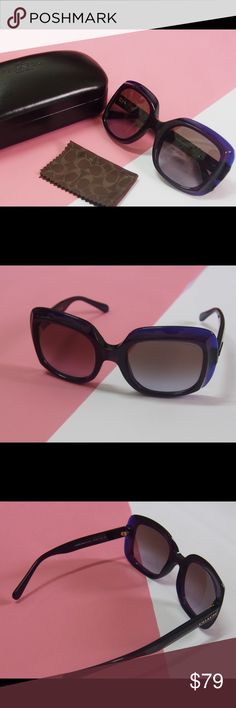 Coach purple sunglasses Coach purple sunglasses Brand new and no scratches  Come with the original cases Coach Accessories Sunglasses