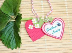 Erdbeer-Limes mit passendem Freebie, MDS, Stampin Up, Herzstanze