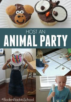 Animal Party Ideas for Kids for Back to School Fun from Toddler Approved.