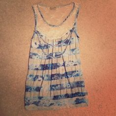 Cute, feminine and whim sickle tank. Size small Feminine, cute and delicate looking tank. Perfect if your looking to be comfy, yet make a statement about your fun, classic and simple style!!! Banana Monkey Tops Tank Tops