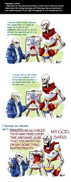 Undertale ask blog: digestion ||| Sans and Papyrus ||| Undertale Fan Art by bPAVLICA on DeviantArt