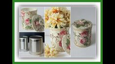 Reciclado - Lata decorada con decoupage estilo vintage - Técnicas decora...