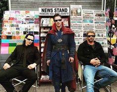 Loki, Strange, and Thor