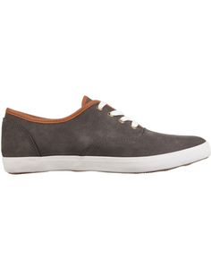 Men's leather-look, low-top sneakers. TheHollowood Punkd Plimsolls have an almond-shaped toe and a smooth, panelled, leather-look upper with a contrast trim along the topline, on the vamp and on the tongue. https://dresslikeastar.com.au