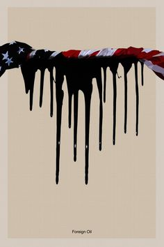 Foreign Oil. A political poster.