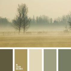 beige, color azul niebla, color marrón verdoso, color pantano, color verde pantano claro, colores de otoño, elección de la combinación de colores para hacer una reforma, oliva, paleta de colores para interiores, paleta de colores para otoño, tonos marrones, tonos verdes, verde pardusco.