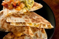 Basic Chicken Quesadillas - Chicken quesadillas are a staple on every Mexican restaurant menu, but they're a snap to make yourself at home. Make it easy on yourself by using a prepared rotisserie chicken.