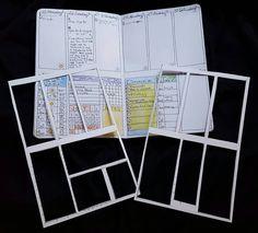 Make cardstock BuJo templates Filofax, Organization Bullet Journal, Planner Organization, School Organization, To Do Planner, Planner Pages, Journal Layout, Journal Pages, Journal Inspiration