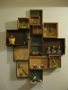 Cigar Box Shelves
