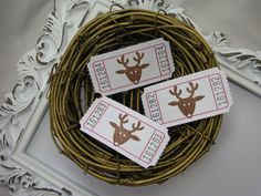 Reindeer Tickets Christmas Party Games by GoldenNestStudio on Etsy