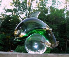 Amazing Vintage Venetian Murano Art Glass Dolphin by TheDecoHotel, $175.00