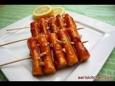 Spicy Sticky Rice Cake GgoChi 떡꼬치, TteokGgoChi