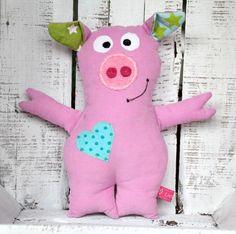Kuscheltier Schwein Susi von LiebensWert auf DaWanda.com