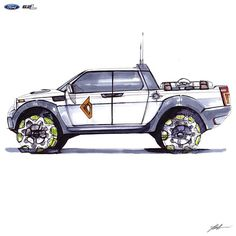 #f150 #raptor #pickup #fullsize #offroad #5.2 #copics #pen #ford #SUV #photoshop #draw #art #sketch #doodle #drawing #american