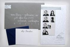 Alix + Brandon's Photostrip and Letterpress Save the Dates by Ephemera Press