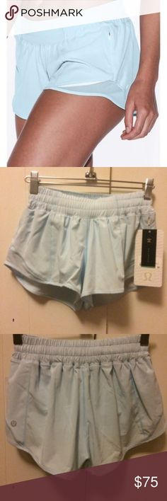 "NWT Lululemon Hotty Hot Short II 2.5"" Ice Milk 2 Lululemon Athletica Hotty Hot Short II 2.5"" inseam. Color is Ice Milk Blue. Brand New with tags. lululemon athletica Shorts"