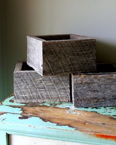 Barnwood Box Planter Centerpiece Reclaimed by TheSquirrelCottage, $22.00
