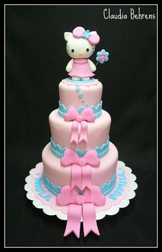 hello kittie cake paula - claudia behrens by Claudia Behrens ~ Cakes, via Flickr