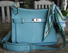 f63de62be42 Hermes Jypsiere 34 in Ciel Clemence leather with palladium hardware. Such a  beautiful color