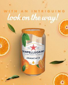 Logo Discover The New Look of Sanpellegrino Italian Sparkling Drinks A new design is on its way for the sparkling taste you love! Share your pics with us as soon as you spot our new can wherever you are with Food Graphic Design, Food Poster Design, Ad Design, Menu Design, Ads Creative, Creative Advertising, Advertising Design, Advertising Ideas, Juice Ad