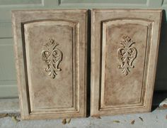 Project: Transforming builder grade cabinets to Old World (ASCP Old White with…