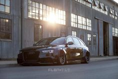 custom A4 wagon with RS5 front end #audi