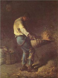 The Winnower - Jean-Francois Millet
