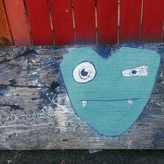 Love monster.  #streetart #loveisallaround #hearts
