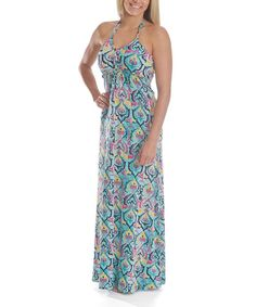 Take+a+look+at+the+Green+Henna+Dhara+Maxi+Dress+on+#zulily+today!