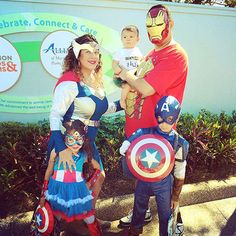 Erica Paredes made sure everyone in her crew was in costume to be part of the Avengers. Their youngest daughter was Baby Hulk.