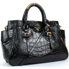 Prada Black Crocodile Handbag Leather Yz1411 Outlet Firenze 6bag9094 308 40 Handbags