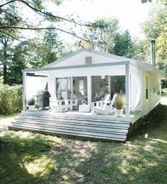 tiny houses prefab | Prefab? Small house with metal steps (?) | Tiny houses