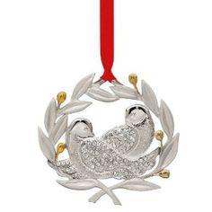 Lenox Ornaments Two Turtle Doves