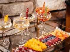 Champagne Garnishes for the #Holidays (http://blog.hgtv.com/design/2013/12/14/home-for-the-holidays-5-quick-easy-champagne-garnishes/?soc=pinterest)
