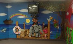 childrens ministry murals | part of The Kidzone children's ministry of Fellowship Bible Church ...