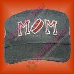 sparkle gear bling hockey mom mini black cadet hat custom front rhinestone