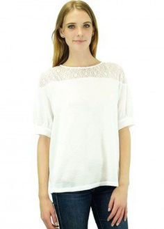 Relished Keira Ivory Floral Lace Blouse