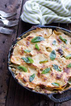Quick and Simple Springtime Skillet Lasagna with a Mediterranean Kick | halfbakedharvest.com
