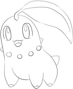 Chikorita coloring page from Generation II Pokemon category. Select from 24848 printable crafts of cartoons, nature, animals, Bible and many more.
