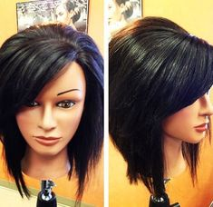 Long Stacked Bob with Bangs . 9 Populer Long Stacked Bob with Bangs . 20 Pretty Bob Hairstyles for Short Hair Popular Haircuts Stacked Bob Hairstyles, Long Bob Hairstyles, Pretty Hairstyles, Medium Stacked Haircuts, Braided Hairstyles, Wedding Hairstyles, Look 2015, Fru Fru, Haircuts With Bangs
