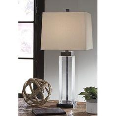 Signature Design by Ashley Alvaro Glass Table Lamp - Set of 2 - Walmart.com