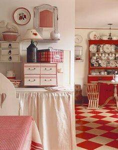 Vrolijk, al dat rood in de keuken. blijmaakzooi.blogspot.nl