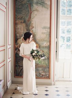 Vicki Grafton Photography | Paris France Chateau Wedding | Fine Art Film Wedding Photographer | Bridal Session | The Artist Holiday | Styling by Ginny Au | Florals Amy Merrick | Hair and Makeup Chiali Meng Artistry | Alexandra Grecco Wedding Gown | Chateau de Bouthonvilliers